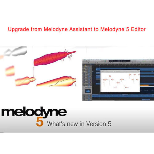Celemony Melodyne 5 Editor upgrade from Assistant software download