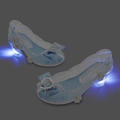 NEW Disney Store Cinderella Light-Up Costume Shoes 7/8 NWT