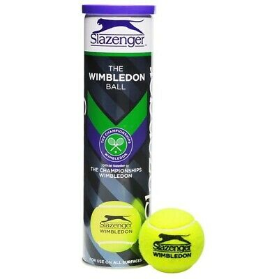 Slazenger Wimbledon X 4 Tennis Balls in can
