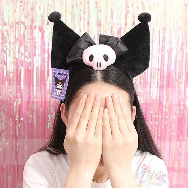Cute Kuromi Ear Headband Plush Hairband Party Costume Cosplay Gift