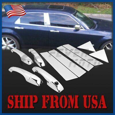 US Chrome Side Door Handle Cover Pillar Post Trim For Dodge Magnum 2005-2008 FM Dodge Magnum Chrome Door Handle