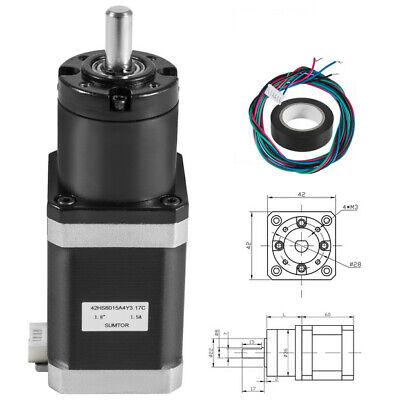 42 Mm Planetary Gear Motor Nema 17 Stepper Motor Gearbox Cnc Step Angle 1.8
