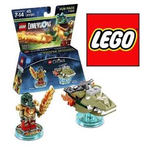 NEW LEGO DIMENSIONS CHIMA FUN PACK 71223 93206553 45PCS - LEGENDS OF CHIMA FUN PACK EDITION - SWAMP  CRAGGER KIDS BUI...