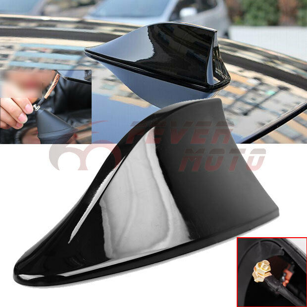 Car Black Roof Top Radio FM/AM Shark Fin Antenna Aerial Signal Fit Audi