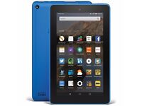 """Amazon Fire 7, 7"""", Tablet, 16GB, WiFi - Blue - used but like new"""