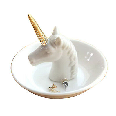 Unicorn Jewellery Ring Holder Dish Plate Rack Trinket Tray Dressing Table Decor