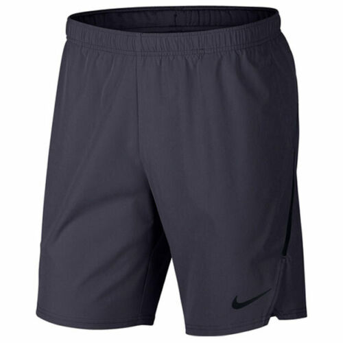 "NIKE Court Men`s Court Flex Ace 9"" Tennis Short XLarge Grid Iron 887515-009"