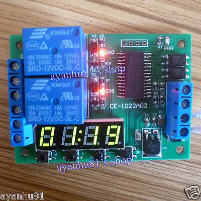 12v 2ch Multi-function Digital Delay Time Cycle Timer Timing Switch Relay Module