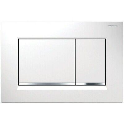 Geberit 115.883 Chrome/White Sigma 30 Dual Flush 1.6 / 0.8 Gpf Actuator Plate Geberit Dual Flush