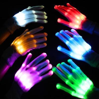 Fun LED Light Gloves Finger Lighting Electro Rave Party Dance Skeleton Halloween