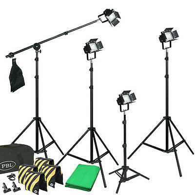 (Light Kit LED  Photo Video Lights Chromakey Backdrop Boom Sandbags )