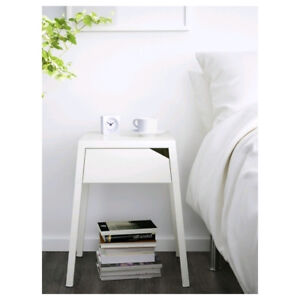 IKEA white SELJE nightstand/ bed side table with drawer