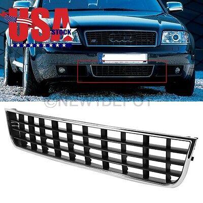 US Chrome Front Center Lower Bumper Grille 4B0 807 683L 01C For Audi A6 C5 02-05