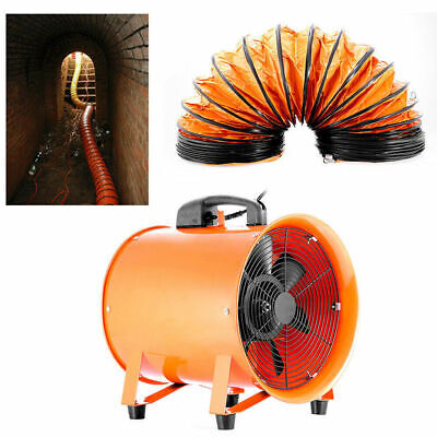 12 Extractor Fan Blower Ventilator5m Duct Hose Pivoting W Handle Utility