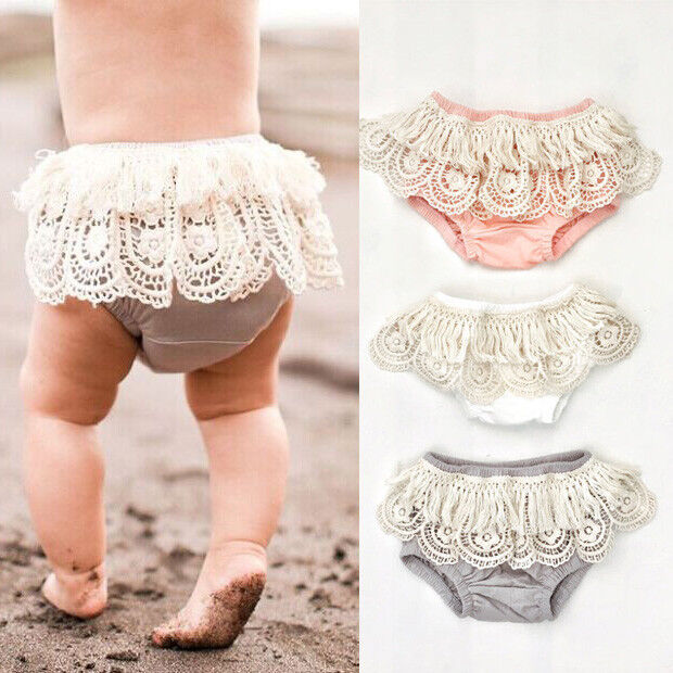 Toddler Baby Girls Lace Floral Shorts Ruffle PP Pants Bloome