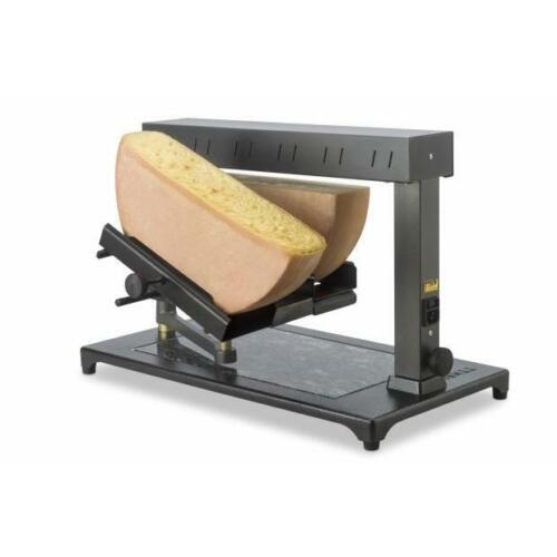 TTM Super Raclette Melter, holds 2 blocks of cheese at once. Made in Switzerland
