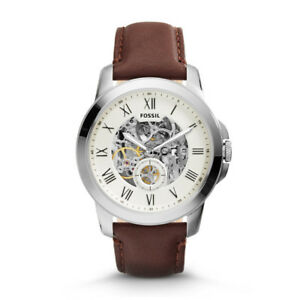 FOSSIL Men's Grant Automatic Brown Leather  Watch (+Black Strap)