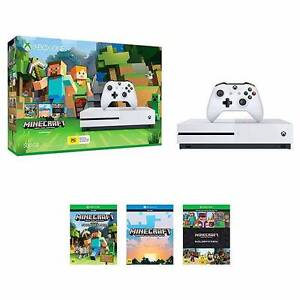 Xbox One S 500GB *NEW* + Halo and Minecraft Games Perth Perth City Area Preview