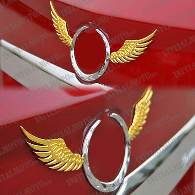 Car SUV Sedan Golden Angel Wings Metal Trunk Lid Logo Emblem Badge Decal Sticker