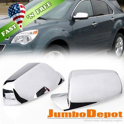 US For 10-17 Chevy Equinox GMC Terrain Triple Chrome Side Door Mirror Cover Trim