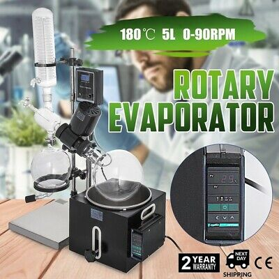 5l Rotary Evaporator Without Pump Rotovap 99 Borosilicate Glass 20-200rpm Flask