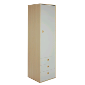 2 Tone Single Door wardrobe with 2 Storage Drawers only £65. Real Barg