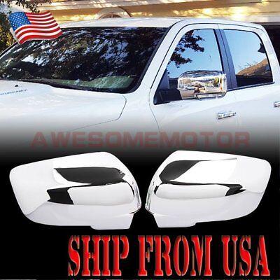 US Chrome Side Mirror Cover Light Cutout For 09-12 Dodge Ram 1500 2500 3500 AM