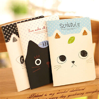 Fd2420 Sweet Cat Notepad Memo Paper Diary Notebook Exercise Schedule Book 1pc