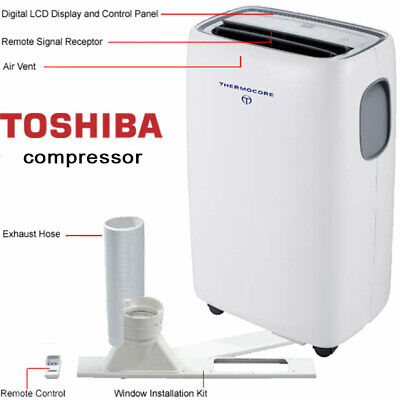 14000 BTU Portable Air Conditioner, 11000 BTU Heater + Window / Wall Kit