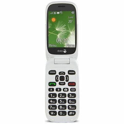 BRAND NEW DORO 6520 3G UNLOCKED SOS ​FLIP MOBILE PHONE BIG BUTTON GRAPHITE WHITE