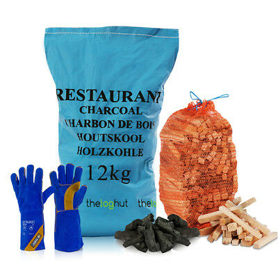 BBQ COOKING - 3kg Kindling 12Kg Restaurant Charcoal & Heat Resistant Fire
