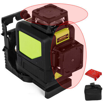 Rotary Laser Level Kit Self-leveling 8 Line Red Beam 98 Range 3d Cross 360