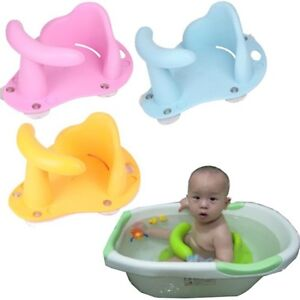 baby newborn kids toddler bath seat ring non anti slip safety chair mat pad tub ebay. Black Bedroom Furniture Sets. Home Design Ideas