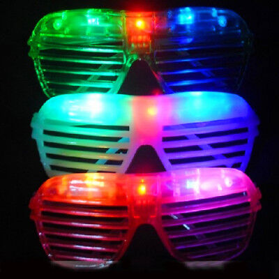 1x LED Shutter Shades - Glow in the Dark Flashing Blue Red Pink Purple White ()