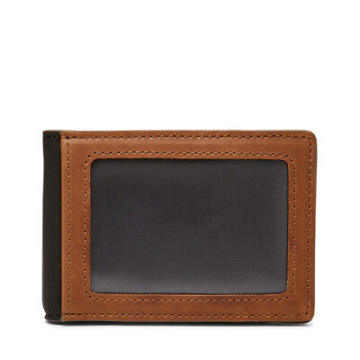 Fossil Men's Tate RFID Money Clip Bifold Cognac ML3848222