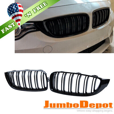 US Front Center Kidney Grille Glossy Black Fit 14-18 BMW F32 428i F80 F82 M3 M4