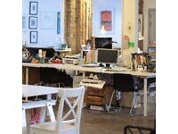 Creative Deskspace in Dalston / part of Print Club London screen print studios