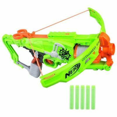 Nerf Zombie Strike Outbreaker Bow Blaster Gun With 5 Darts