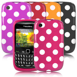 STYLISH POLKA DOT SPOTS PRINT RUBBER GEL SKIN CASE COVER FOR YOUR MOBILE PHONE