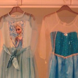 Frozen Elsa dresses, 1 angel dress & 1 witch dress