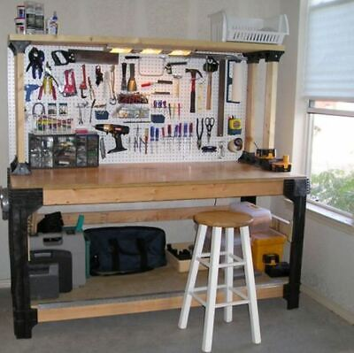 Diy Wooden Table (DIY Custom Workbench Legs Shelving Storage Garage Wooden Table Shop Workshop)