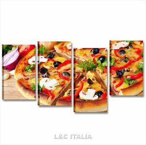 Pizza 3 quadro 152x78 quadri moderni cucina pizzeria ristorante arredo stampa ebay - Dipinti moderni per cucina ...