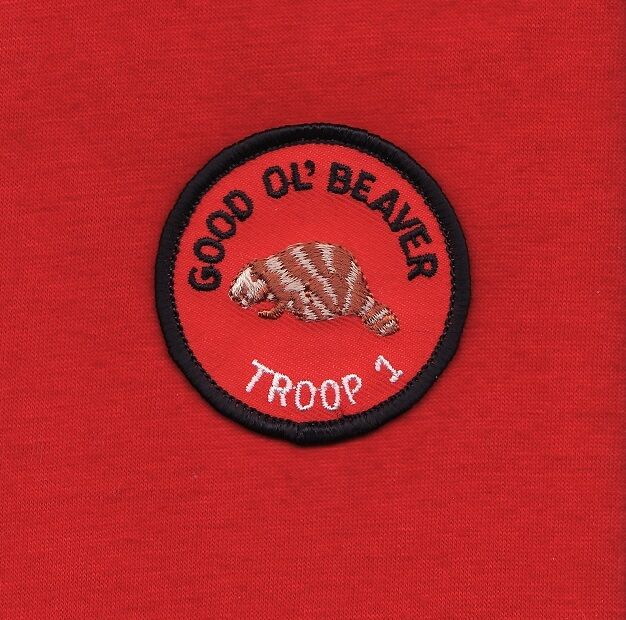 GOOD OL BEAVER Round Patrol Patch Wood Badge Course Cub Boy Scout beads BSA