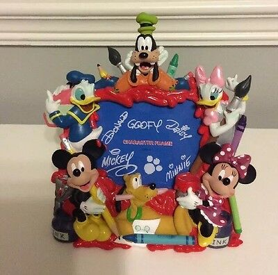 New Without Box Picture Frame DISNEY PARKS Character MICKEY MOUSE Minnie GOOFY