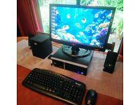 Super Quick INTEL PC SYSTEM WIN 10/E7500/8GB RAM/320GB HD/22inch FULL HD/WIRELESS KB&M/LOGITECH SPKS