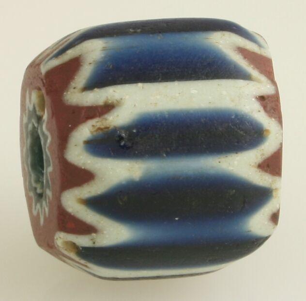 "16th century, 7 layer chevron.  Trade bead.   7/8"""