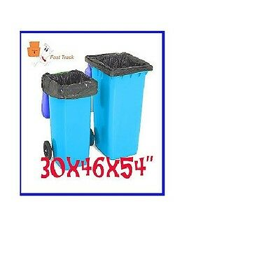 50 x LARGE BLACK WHEELIE BIN LINERS REFUSE SACKS BAGS - 30x46x54