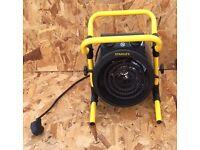 Stanley 2KW Turbo Fan Heater Freestanding Work Garage Caravan RRP £65