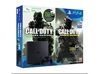 PS4 1tb call of duty infinity warfare and modern warfare bundle brand new in Box
