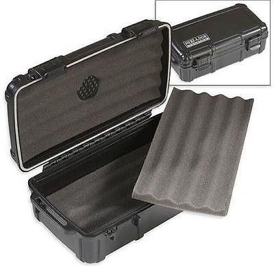 Herf A Dor X10 Black Travel Cigar Humidor Waterproof Holder Case Humi Care - NEW